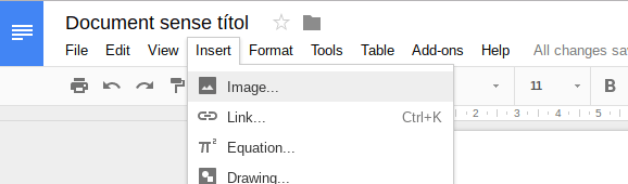 Using Drawings To Insert Images Into Google Documents